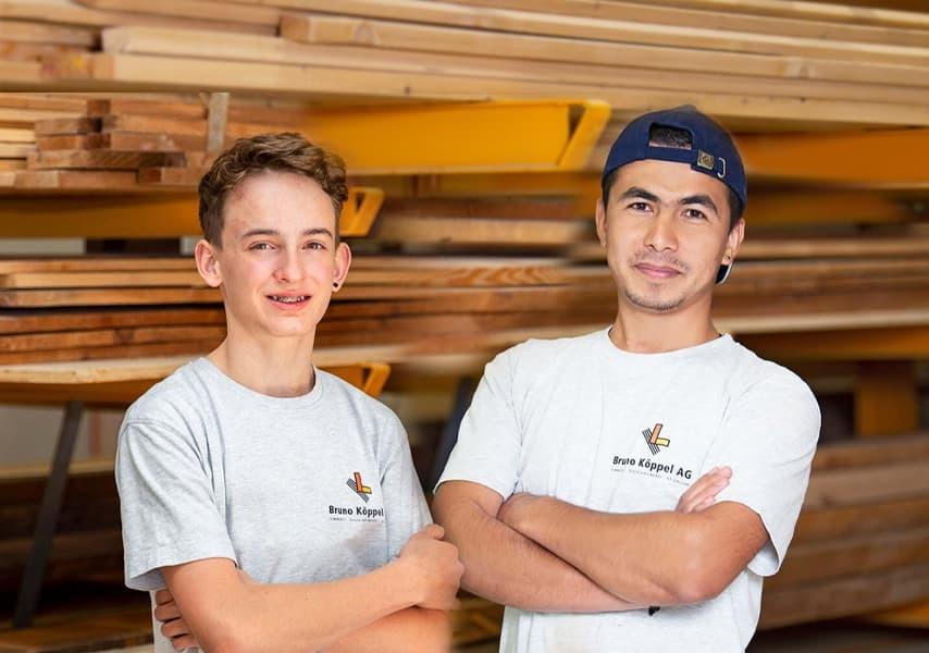 Jan Stauffacher (links) und Ali Hussaini